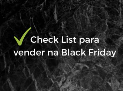 Check list para vender na Black Friday. Planeje-se!